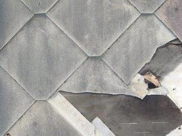 Broken Asbestos Cement Diamond Roof Tiles
